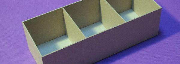 ¿Cómo se hace una caja de cartón gris?