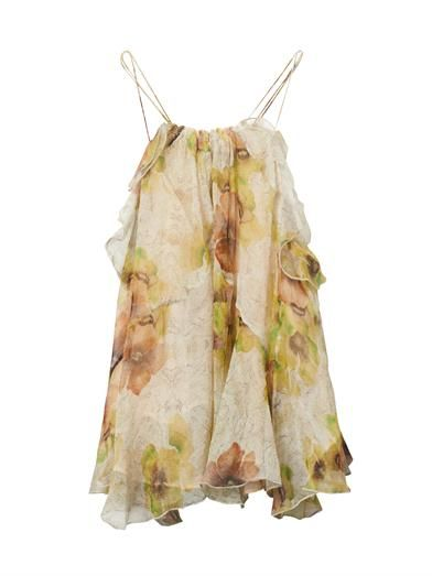 ISABEL MARANT, Riley floral-print silk top  MATCHESFASHION.COM #MATCHESFASHION