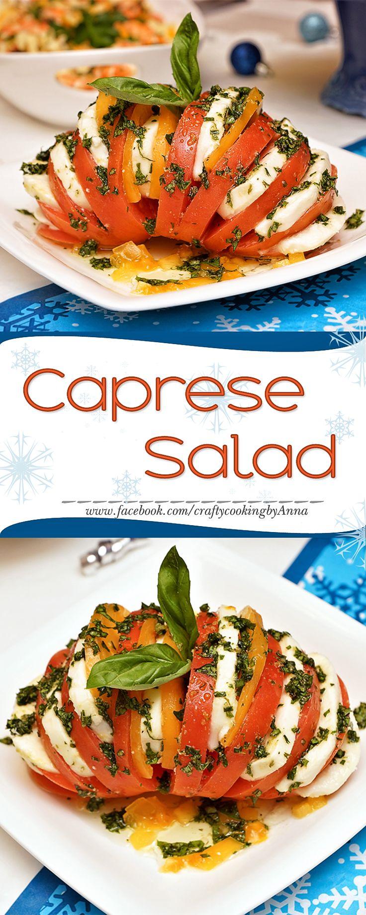 Caprese Salad! #Easy #Fancy #Holidays #Party