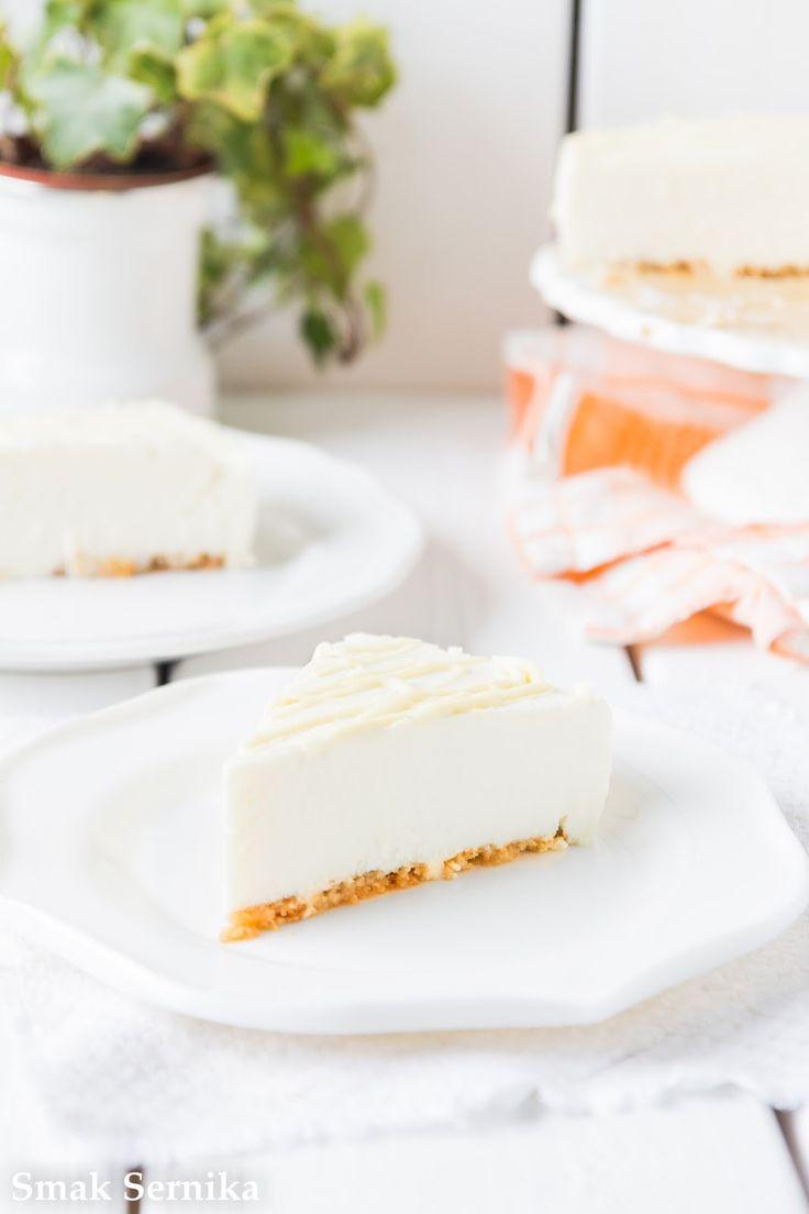 Sernik z białą czekoladą na zimno/No bake white chocolate cheesecake