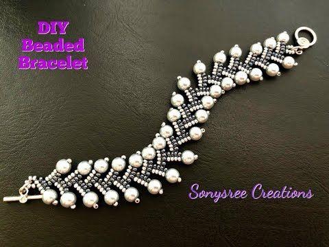 Bracelet perlé à chevrons || Superbe Bracelet || Bracelet perlé de bricolage || Collier …