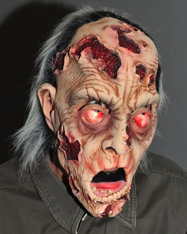 pealing flesh face zombie full over the head realistic halloween mask - Bloody Halloween Masks