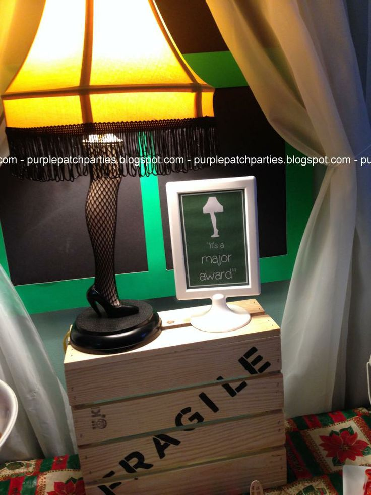 The Purple Patch: A Christmas Story themed Christmas Party - Fra-gee-lay Leg Lamp