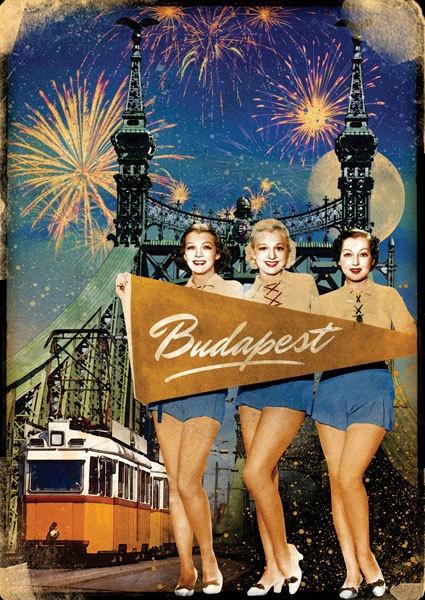 Postcard - Budapest - Liberty Bridge. Ft400.00, via Etsy.