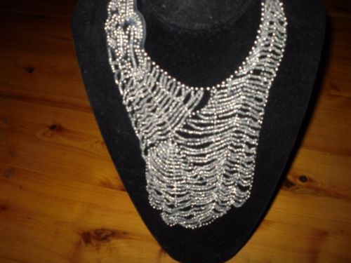 Large beaded necklace. Sold продано