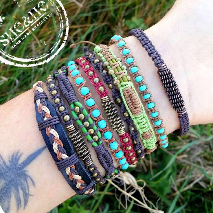 macrame jewelry, macrame bracelet, boho style, men jewelry, bracelets, wire wrapped, wire wrapping, bransoletki, technika wire wrapping