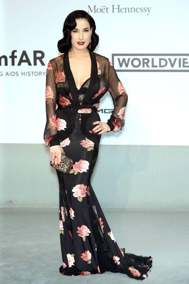 Best Dressed: AmfAR's ... Dita Von Teese