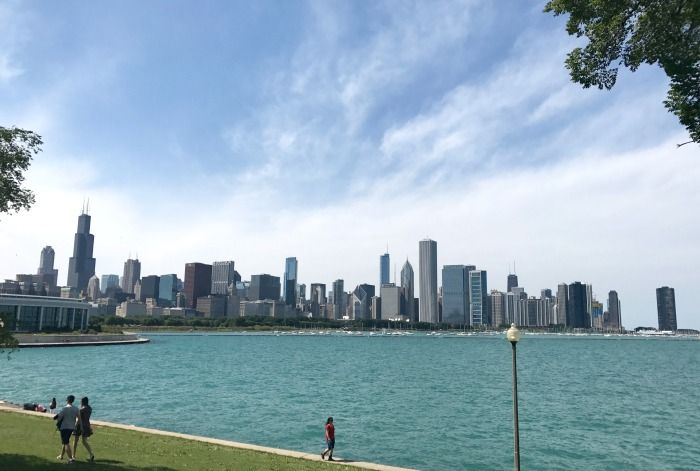 Chicago Skyline from the Museum Campus (photo taken from the double decker bus tour)