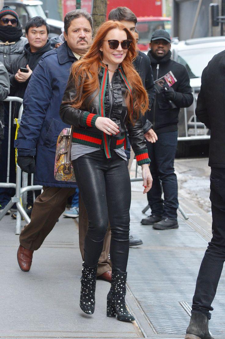 Lindsay Lohan #LindsayLohan at ABC Studios in New York 13/02/2017 Celebstills L Lindsay Lohan