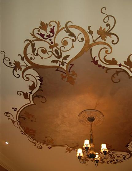 Ceiling Treatment Done With One Of My Favorite Modello - ceiling stencils for walls designs