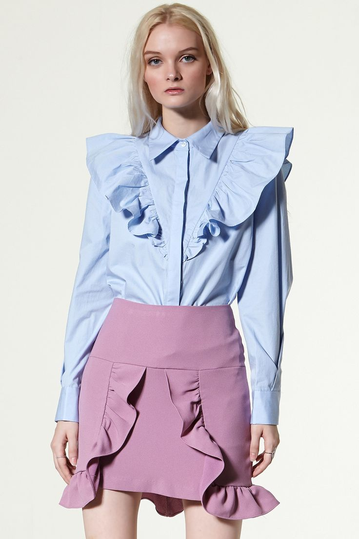 Besty Ruffled Neck Blouse Discover the latest fashion trends online at storets.com
