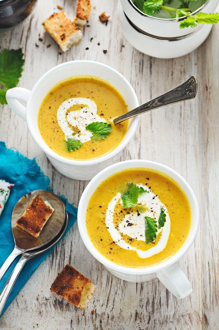 Carrot Lemon Balm Soup | The Urban Spice