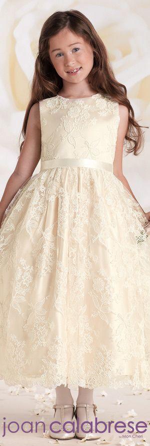 Joan Calabrese for Mon Cheri  - Style No. 115316  #flowergirldresses  calabresegirl.com
