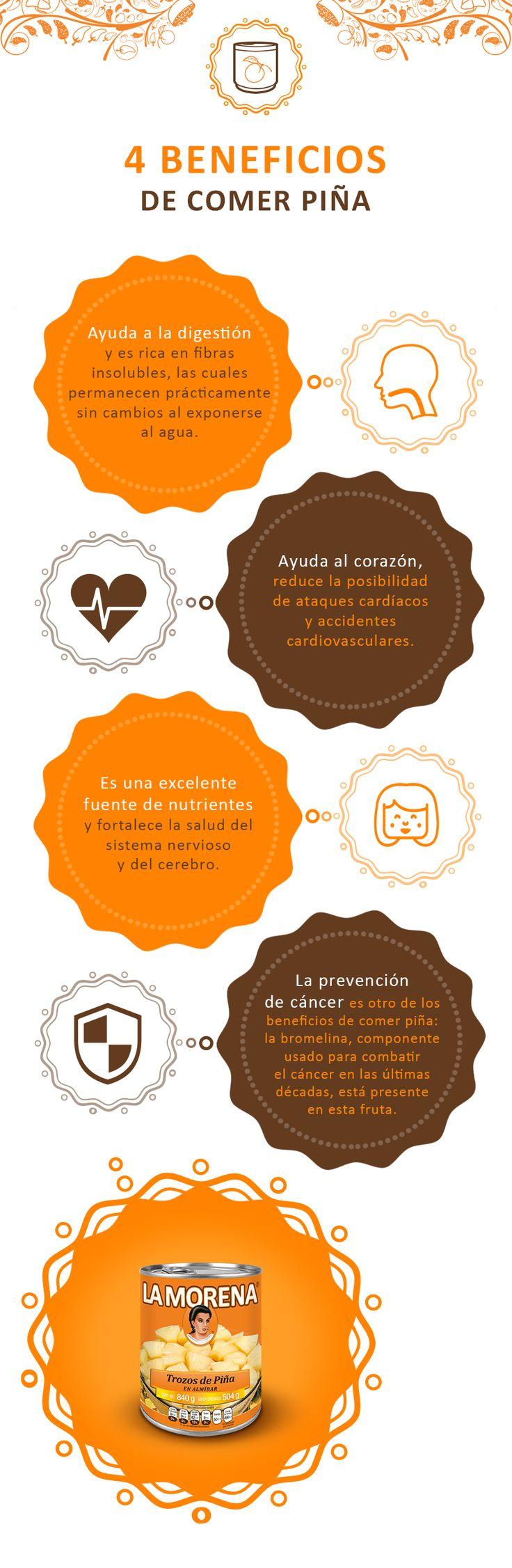 La piña aporta grandes cantidades de fibra, además de vitamina C, por lo que es una opción recomendable para acabar con el estreñimiento.