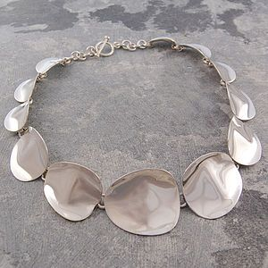 Petal Sterling Silver Necklace