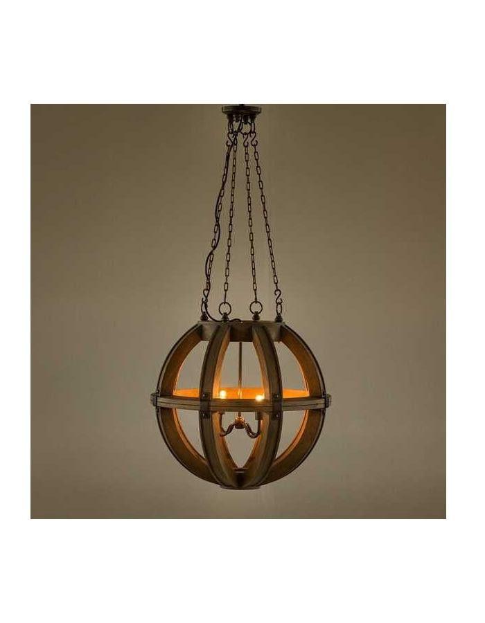 Cambure Wooden Globe Chandelier - Four Light – Chic Chandeliers