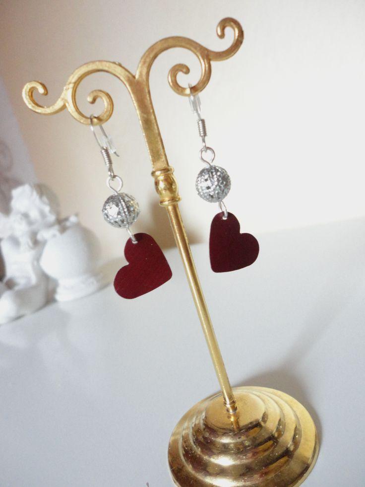 Nespresso Herz Plättchen Ohrringe auf dawanda artXdesign shadisha
