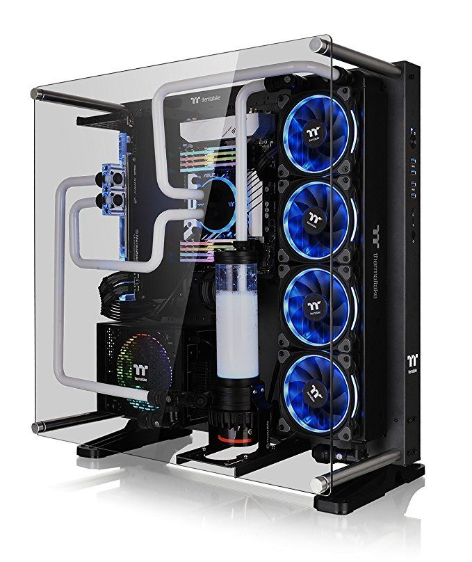 Custom Liquid Cooled Open Case Pc Computer Setup Computer Case