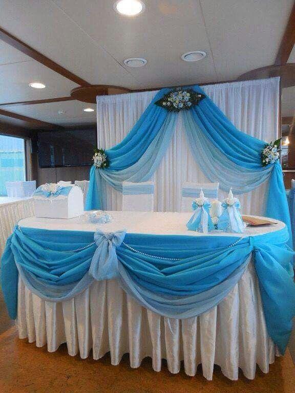 Decoraci n azul decoraciones de salon de bodas pinterest - Cortinas para un salon moderno ...