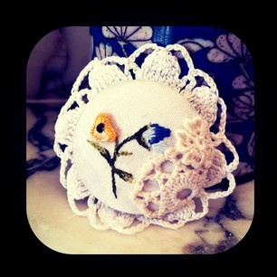 Bestowed Collections by Monique  - one of its kind vintage upcycled brooch...