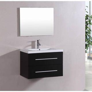 Photo Album Website Shop for Belvedere Bath Modern Espresso Wall Mount Bathroom Vanity Get free delivery at Overstock