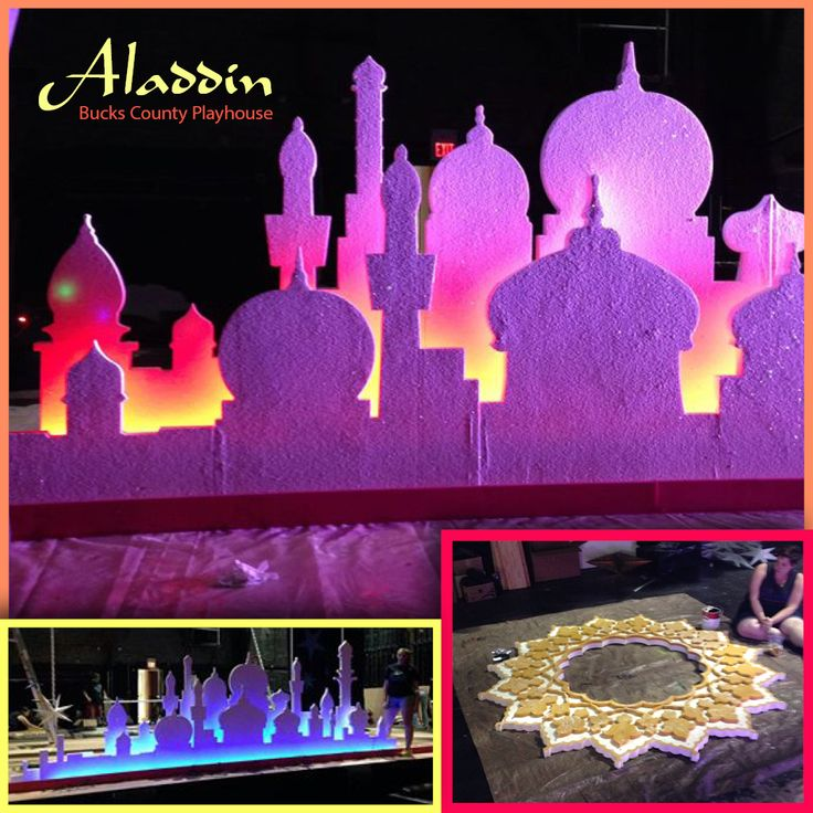 Bucks County Playhouse sneak peak of their upcoming Aladdin, Jr. show - they used ICA's EPS foam to create this beautiful set design! See it live July 22, 2015 — August 2, 2015  http://www.bcptheater.org/shows-events/aladdin-jr/