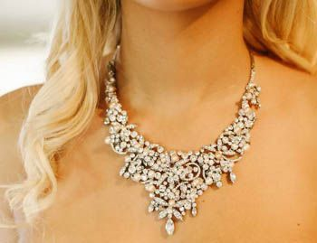 Statement wedding/bridal necklace, designed and created by Victoria Walker Boutique http://www.victoriawalkerboutique.com/collections/necklaces/products/alexandra