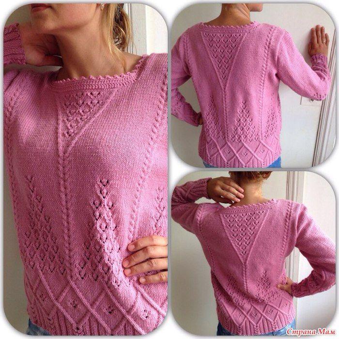 Приступаем!!! Вяжем вместе ажурный пуловер