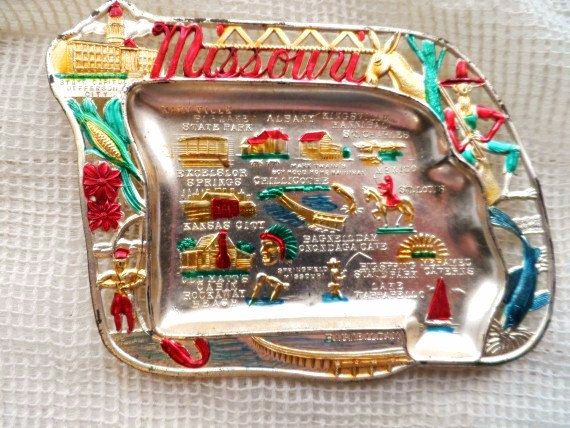 Vintage Missouri State Travel Souvenir Painted by OrphanedTreasure