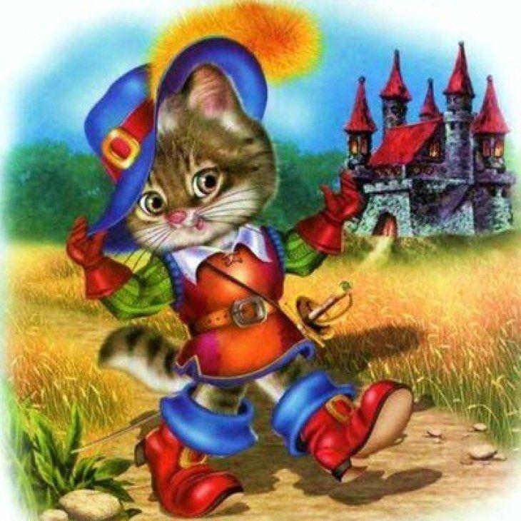 Картинки кот в сапогах из сказки для детей