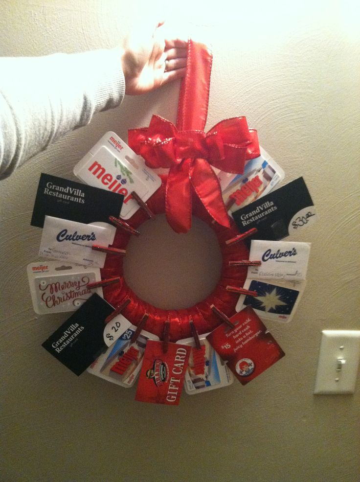 Christmas gift card basket ideas