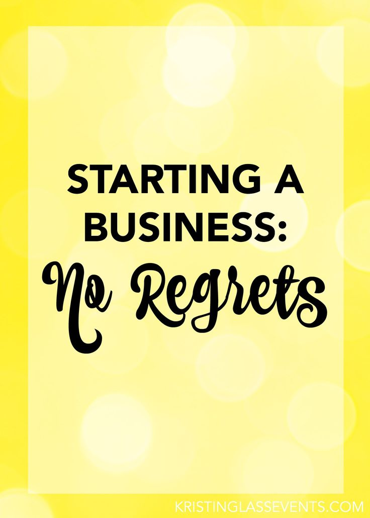 Starting a business: no regrets. I chose to pursue entrepreneurship, and I'm not looking back.
