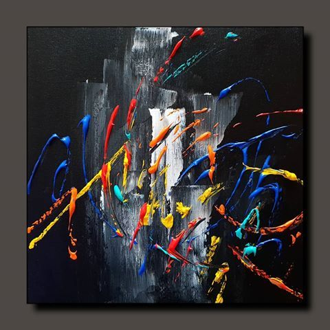 """Abstract painting …. painting of the day # 0161 Available for SALE …. 12 """"× 12"""" ….. Acrylic on stretched canvas Price: 750 …"""