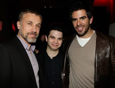 Samm Levine, Eli Roth and Christoph Waltz at event of Inglourious Basterds