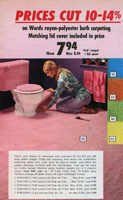 Good Montgomery Ward Catalog   1970   Shag Carpet In Pink.