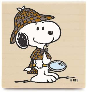 Image detail for -detective snoopy stamp measures 2 25 x 2 25 $