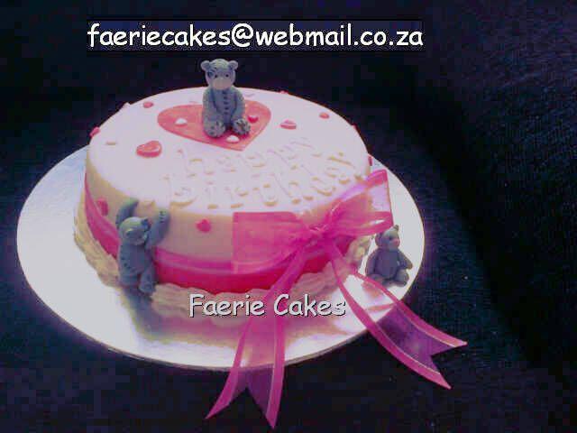 bears birthday cake