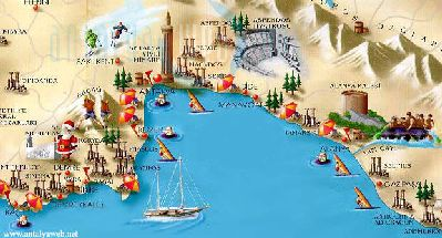 Antalya. Turkey maps, turkey travel map, tourist map, istanbul map, turkey map