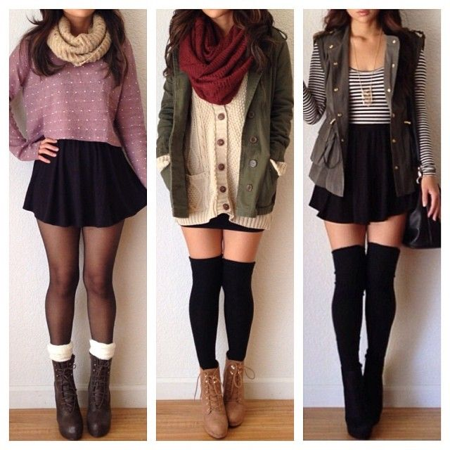 .@heyitsannabanana | Must have winter essentials (scarves, thigh highs, and sweaters) from @Cori Kozak... | Webstagram