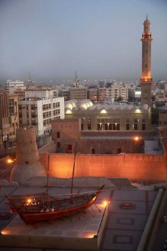Grand Mosque, Al-Fahidi Fort Museum in Dubai UAE