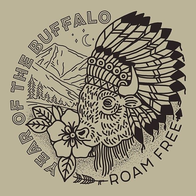 Instagram media by joshuaminnich - This piece has been completed and approved for awhile now, but I can finally share it. This is another part of the project for Year of the Buffalo and was commissioned to be a traditional tattoo style. It will be used for the CD print and possibly shirts.