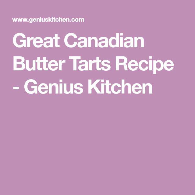 Great Canadian Butter Tarts Recipe - Genius Kitchen