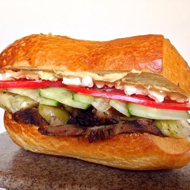 レシピとお料理がひらめくSnapDish - 8件のもぐもぐ - Grilled Lamb Sandwich by Leo D.