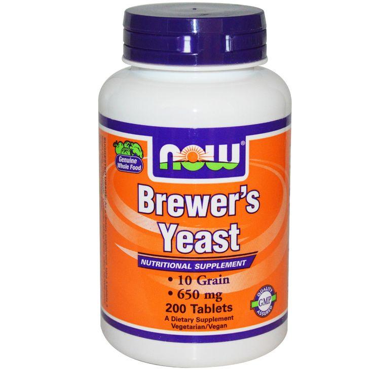 Now Foods, Пивные дрожжи, 650 мг, 200 таблетокПольза от пивных дрожжей большая - убирают акне, волосы быстрее растут, ногти целые, вес добавляется, да и вообще витамины в нем как никак, а они не помешают.
