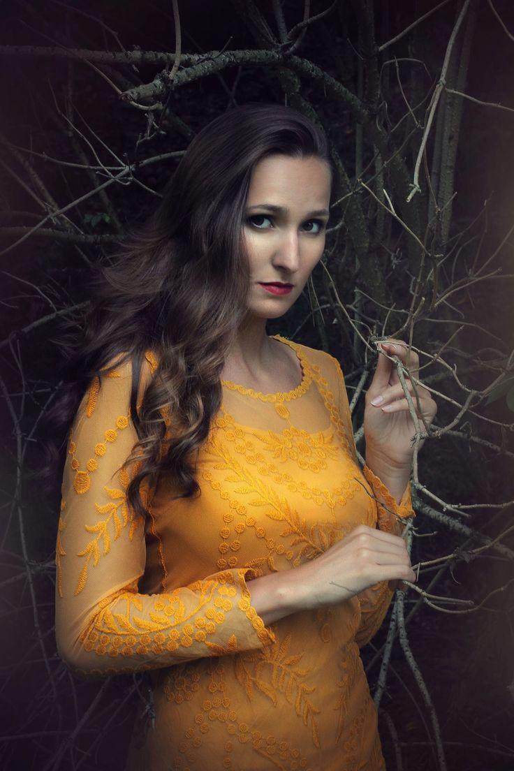 Fairy dark photography , fashion portrait, deep forest