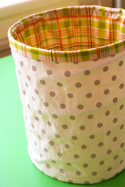 10 tutorials for sewing fabric baskets, bins, or buckets.  Can also use burlap to cover boxes.