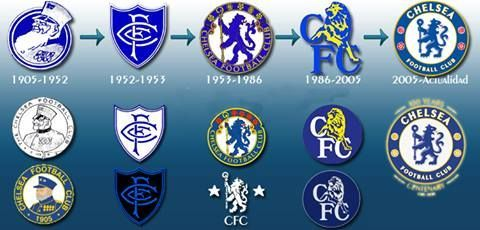 chelsea football club badge history badges pinterest