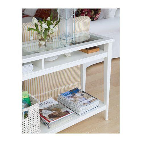 LIATORP Desserte - blanc/verre - IKEA, entrée, dos canapé ?
