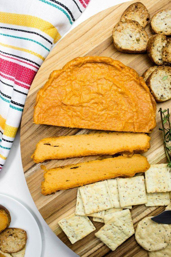 Vegan Baked Smoky Cashew Cheese Recipe Vegan Cheese Recipes Vegan Snacks Healthy Vegan Snacks