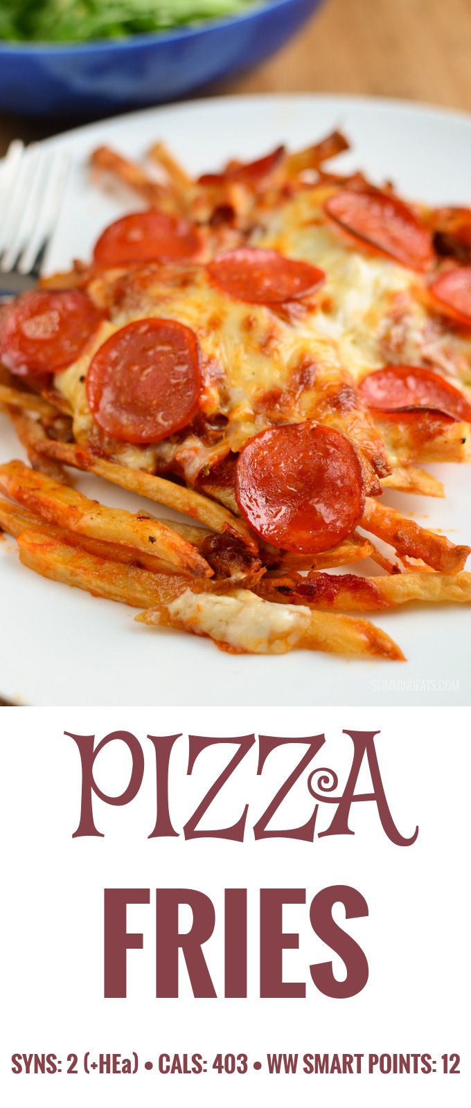 Slimming Eats Pizza Fries - gluten free, vegetarian, Slimming World and Weight Watchers friendly
